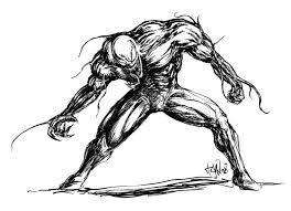 venom sketch ink by tuax on deviantart