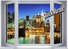 brooklyn bridge window peel stick wall mural brooklyn bridge window peel stick canvas wall mural