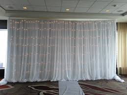 White Drape 30 Ft Long Backdrop