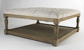 round tufted leather ottoman coffee table editeestrela design