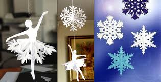 christmas and new year home decor making snowflakes snowflake