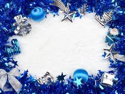 christmas blue and silver frame stock photo picture and royalty