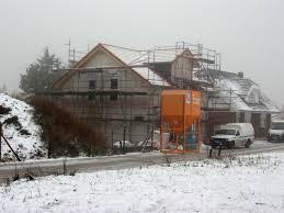 Hausbau Hauskauf Winter Baustelle Vor Wetter Schützen Aktion Pro Eigenheim