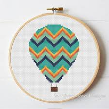 pattern art pdf pdf cross stitch pattern hot air balloon nursery decor modern