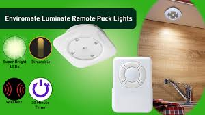 puck lights with remote luminate led remote puck lights by enviromate products youtube