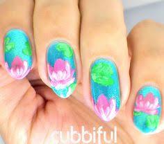 pink lotus by jveronaildesign nail art gallery