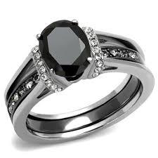 onyx wedding band new 2 stainless steel two toned onyx black cz wedding ring