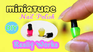 diy miniature nail polish with real polish and brush that really