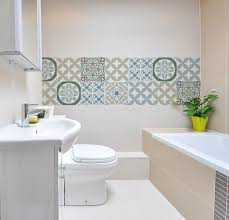 Gray Bathroom Tile by Wall Stickers U2013 Vanill Co