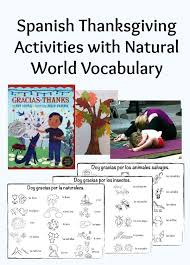 thanksgiving activities with world vocabulary