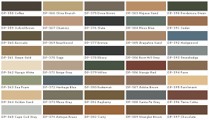 exterior paint color chart home design