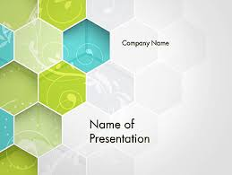 hexagons with floral background powerpoint template backgrounds