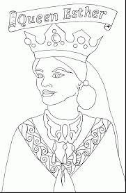 surprising queen esther coloring page with kids crafts coloring