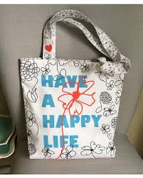bridal shower gift bags deal on a happy tote bag original fabric design