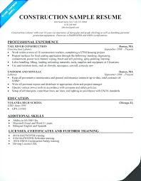 construction resume exles this is resume for construction construction laborer resume