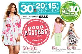 take advantage of savings at kohl s grand opening sale march