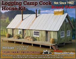 house kit logging camp portable bunk house kit scale model masterpieces