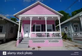 a cute little pink house in key west florida stock photo royalty
