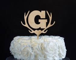 antler cake topper antlers cake topper etsy