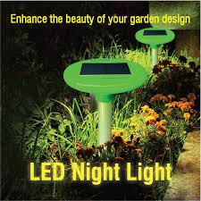 solar snake repellent with led garden light