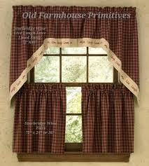 Primitive Kitchen Curtains Primitive Kitchen Curtains Teawing Co