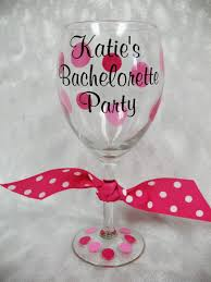 wine glass party favor personalized bachelorette party wine glass personalized wine