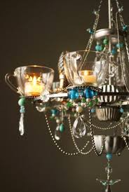 Tea Cup Chandelier Upcycled Recycled Madeleine Boulesteix Chandeliers Deco