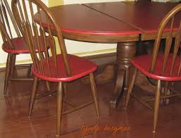 Red Dining Table by Lynda Bergman Decorative Artisan Painting Red U0026 Brown Distressed