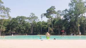 hillsborough florida state park swimming pool in the middle of the