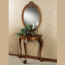 wood and mirrored console table raphael wood console table and mirror thesoundlapse com