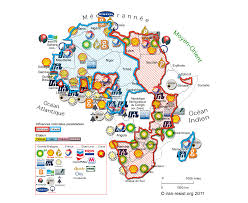 World Map Of Africa by Map Of Africa U0027s Oil Resources By Corporate Ownership 1900x1559