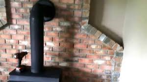 wood burning wall wood burning stove brick wall not insurance compliant heatshield