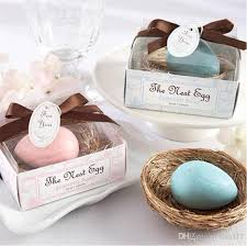 party favor ideas for wedding 2016 new blue bird egg soap white hay nest wedding baby shower