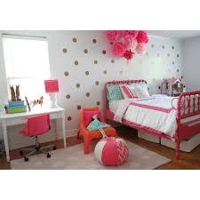 my daughters big tween room gold polka dots glam tissue