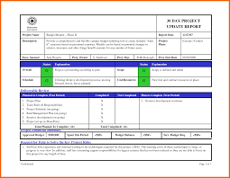 project update template proposalsheet com
