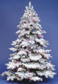 12 foot dura lit artificial tree alaskan flock clear