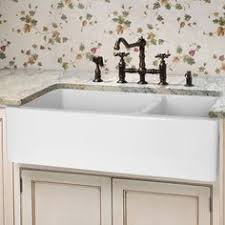 double basin apron front sink rohl rc3719 37 handcrafted 50 50 double basin fireclay apron