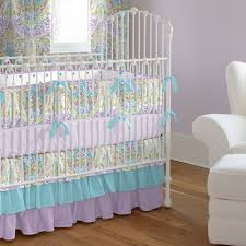 Teal Crib Bedding Set Aqua And Purple Crib Bedding By Carousel Designs Bright