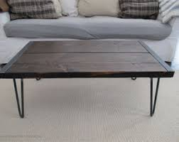 Gray Wood Coffee Table Reclaimed Wood Coffee Table Wood Table Industrial Table