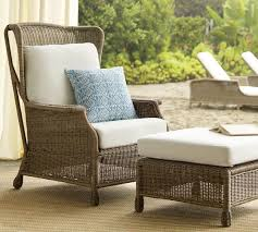 saybrook all weather wicker wingback armchair pottery barn