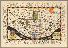 Map Of St Louis Being A Map Of Saint Louis Pride Of The Mississippi Valley