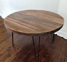 reclaimed round coffee table