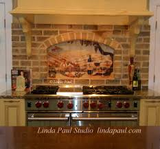 Ceramic Tile Murals For Kitchen Backsplash Kitchen Wonderful Kitchen Backsplash Murals Decorative Ceramic