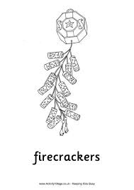 firecrackers for kids firecrackers colouring page new year