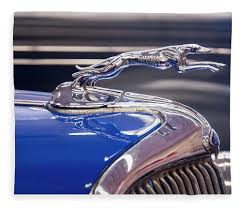 1934 ford greyhound ornament fleece blanket for sale by chris flees