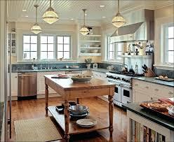 Vintage Galley Kitchen - kitchen beach themed light fixtures galley kitchen lighting