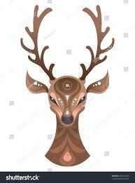tribal ornamental deer print design stock vector 500534269