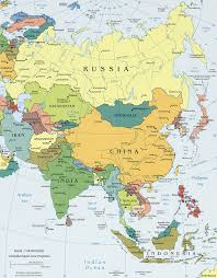 Asia Minor Map Asia Map With Countries Of Continent Clickable To Asian In Of