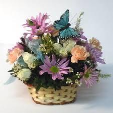basket arrangements flower basket arrangement saratoga hospital gift shoppe