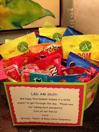 thank you baskets thank you basket of wrapped goodies for the labor delivery staff